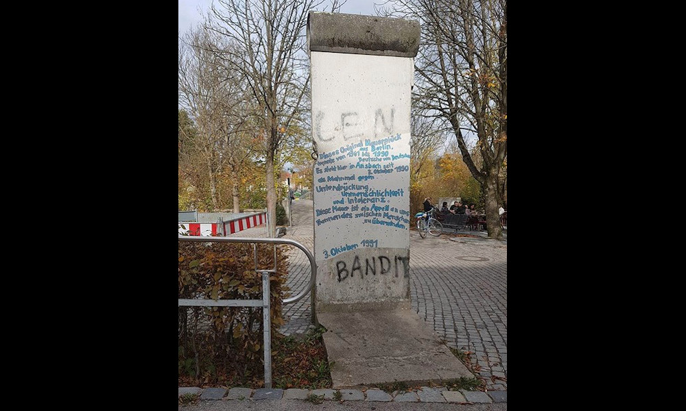 Berliner Mauer in Ansbach