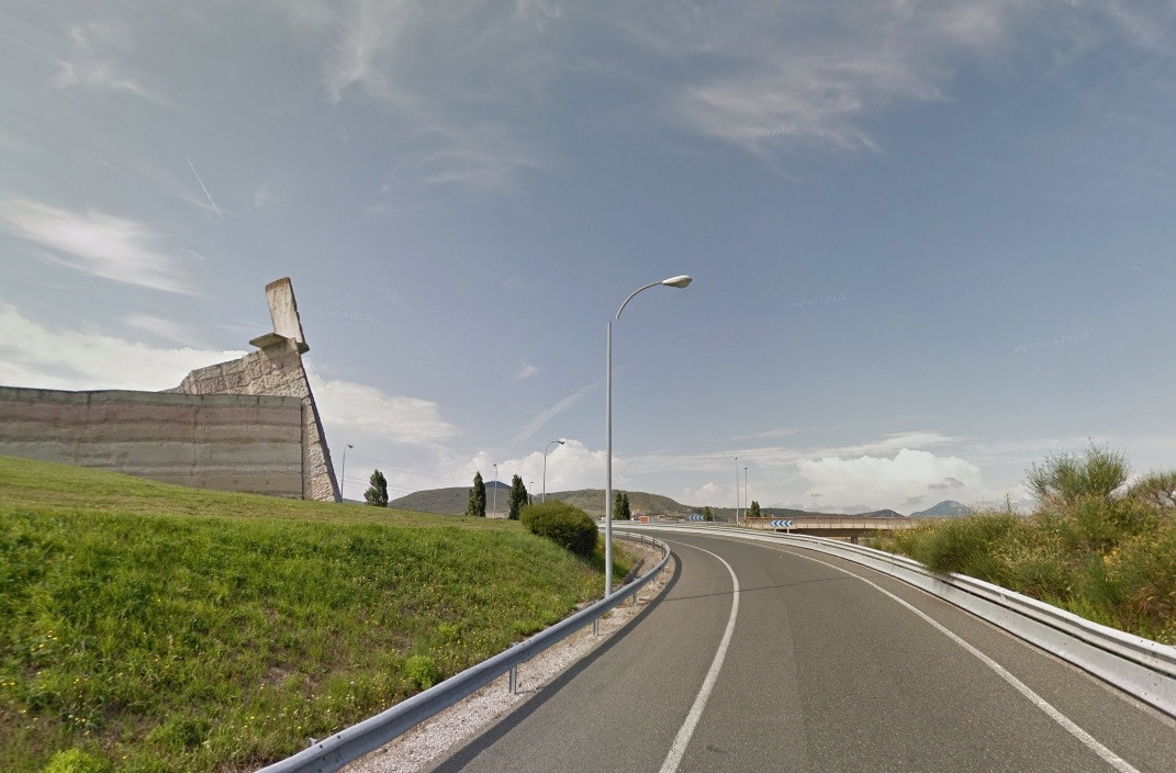 Berliner Mauer in Zuasti, Spanien
