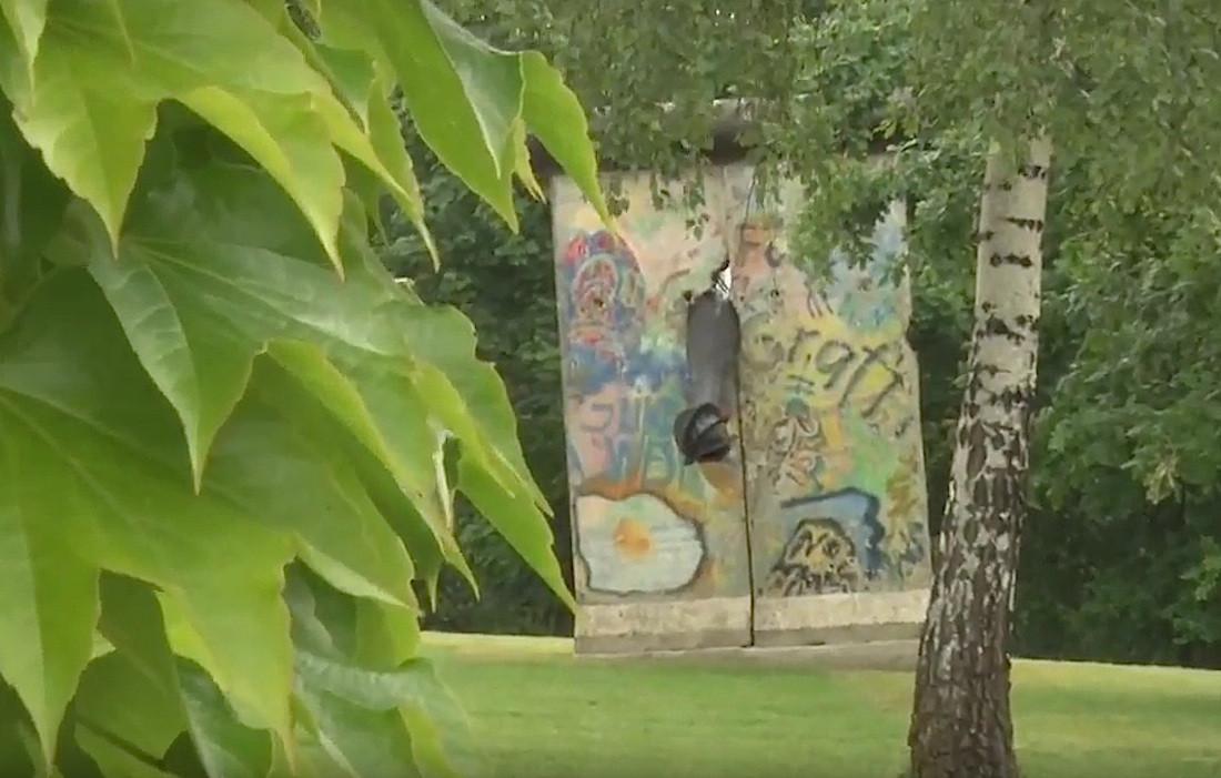 Berliner Mauer in Gnbiezno, Polen
