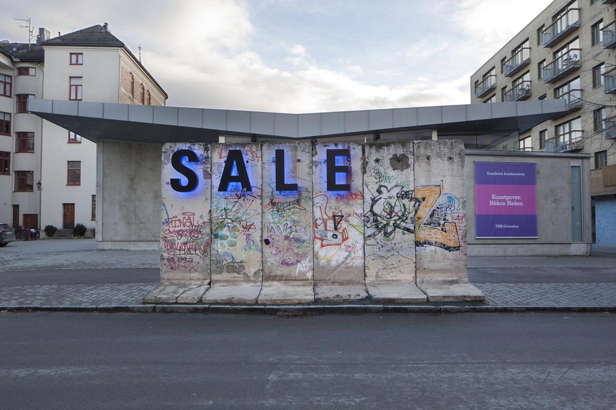 Berliner Mauer in Trondheim, N