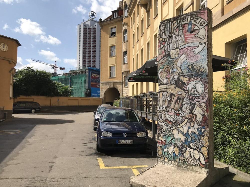 Berliner Mauer in Leipzig, Deutschland