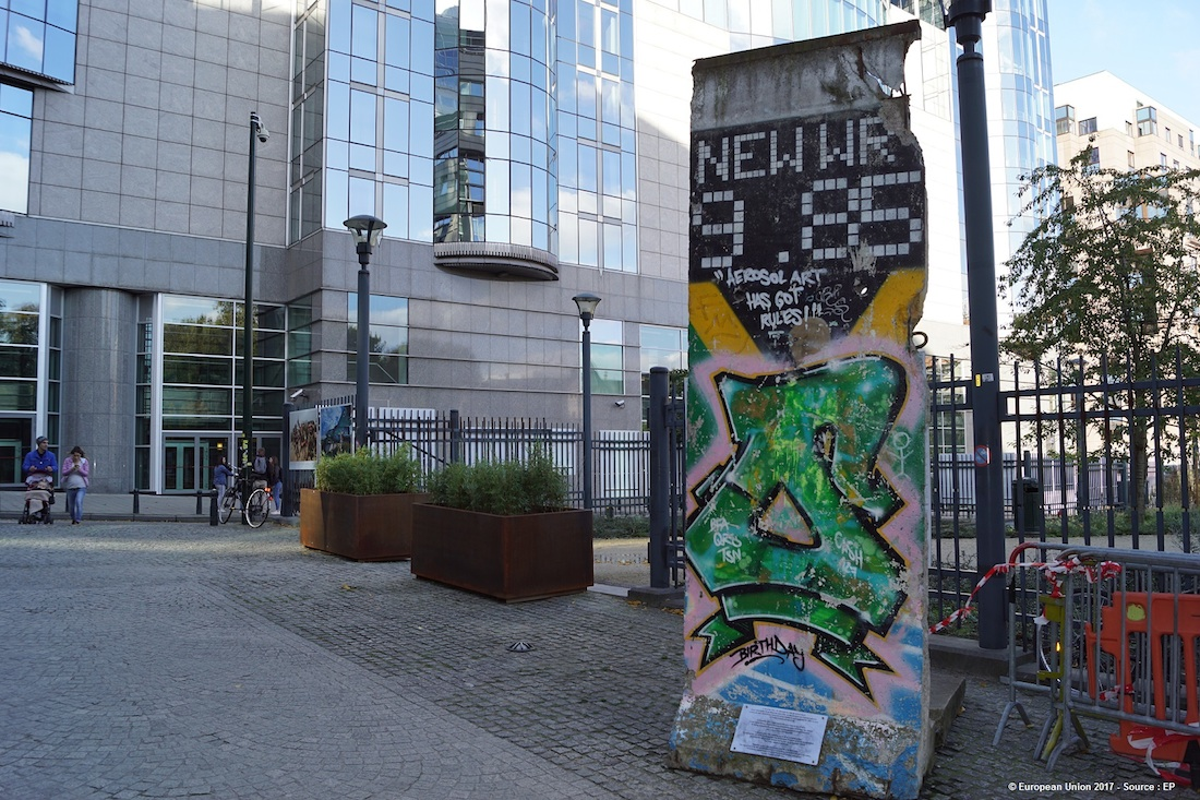 Berliner Mauer in Brüssel, B